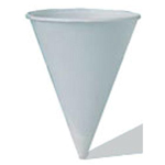 WATER CUP CONE  4.5 OZ WHT 5000 ct. Genpak