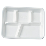 FIVE COMPARTMENT FOOD TRAY