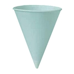 WATER CUP CONE  4.25 OZ WHT 5000 ct. Solo