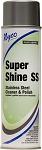 Super Shiine STAINLESS STEEL Cleaner Aerosol  12 case