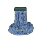 MOP HEADS (wet) WEB FOOT BLU MED 5IN (each)