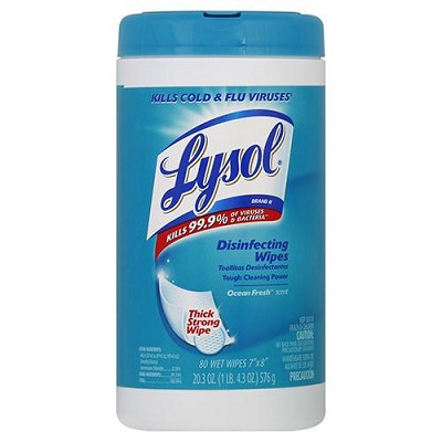 LYSOL WIPE SPRING WATERFALL 80