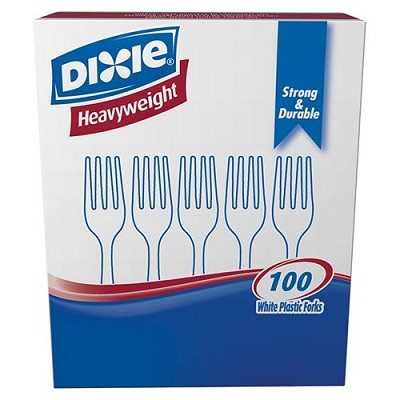 FORK H BOX WHITE 100 ct DIXIE